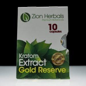 Zion Herbals Kratom Extract Gold Reserve 10ct
