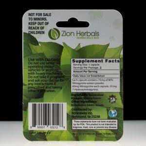 Zion Herbals Lucky 80 Kratom Extract 2 count