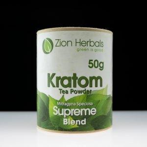 Zion Herbals Supreme Blend Kratom Powder 50g