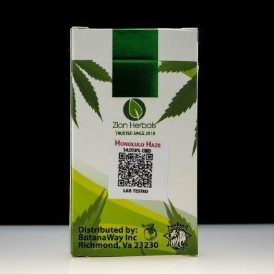 Zion Herbals Honolulu Haze 5 Pack CBD Pre-Rolls