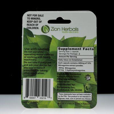 Zion Herbals Kratom Extract Silver Series