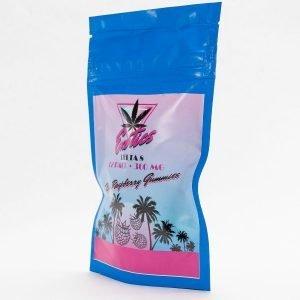 Exotics Gummies Delta 8 THC Blue Raspberry 12pk