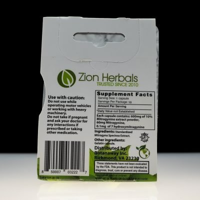 Zion Herbals Kratom Extract Silver Series available at Black Label Kratom