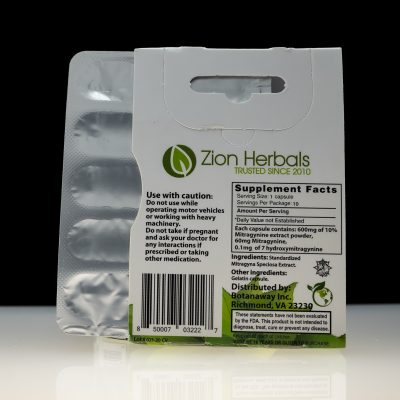 Zion Herbals Kratom Extract Silver Series available at