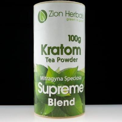Zion Herbals 100g Supreme Blend Kratom available at Black Label Kratom