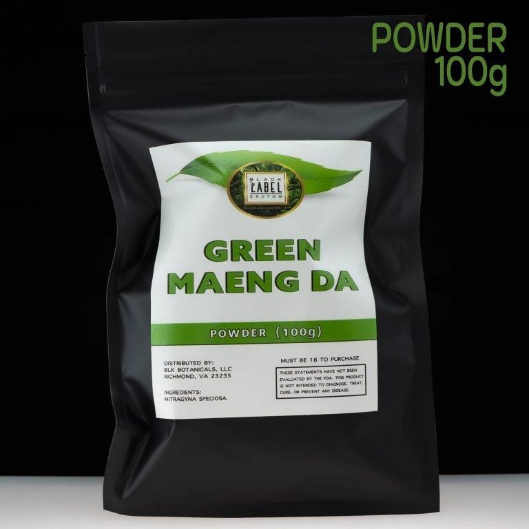 Black Label Kratom Green Maeng Da Kratom Powder 100g
