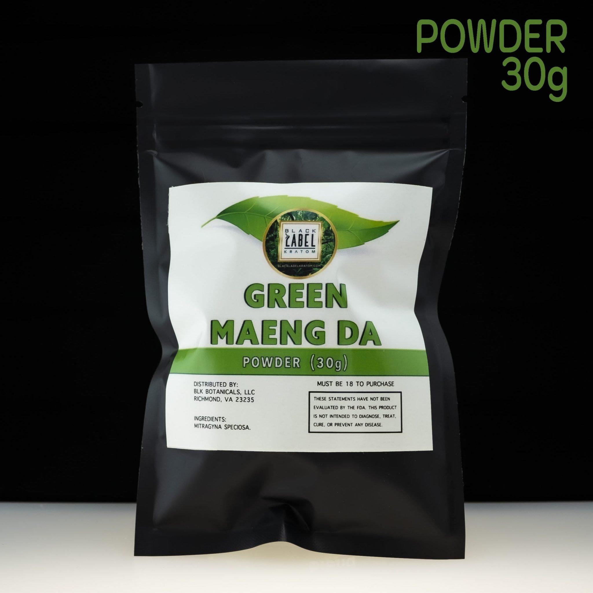 Black Label Kratom Green Maeng Da Powder 30g