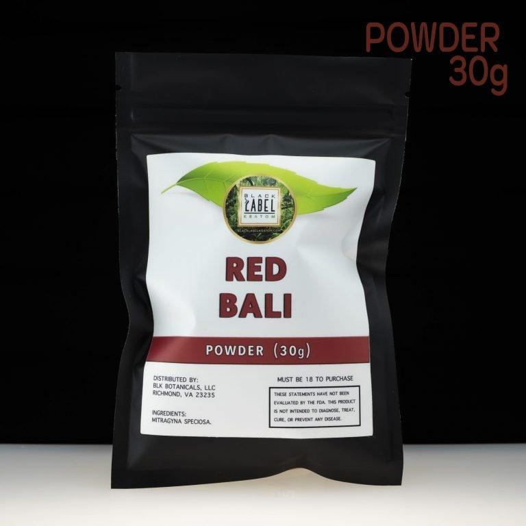 Black Label Kratom Red Bali Powder 30g