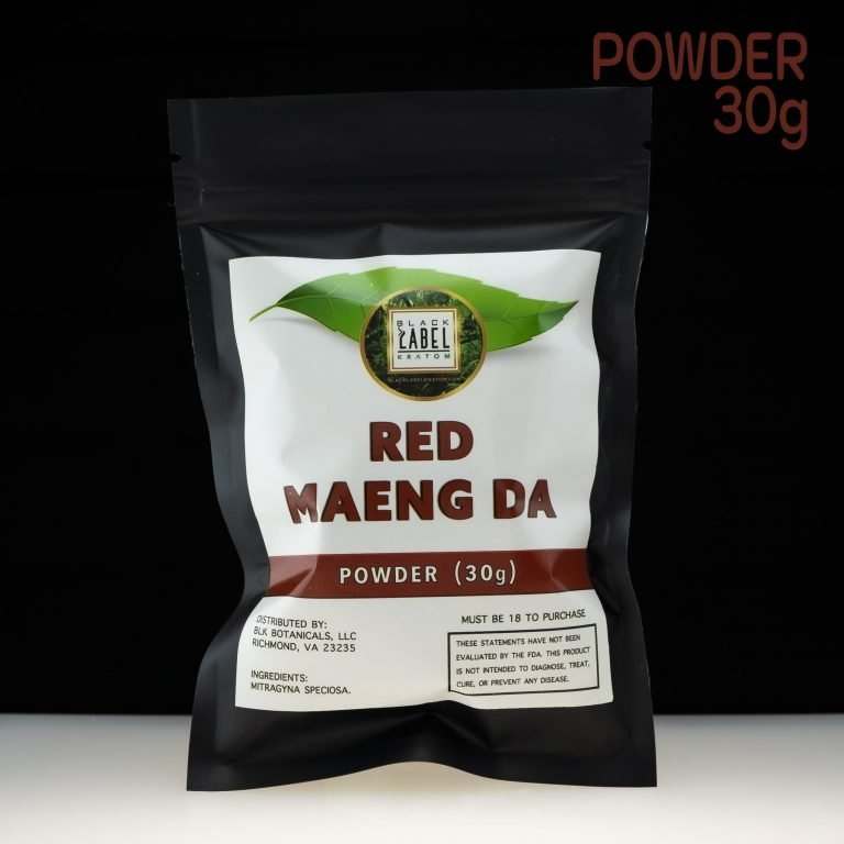 Black Label Kratom Red Maeng Da Powder 30g