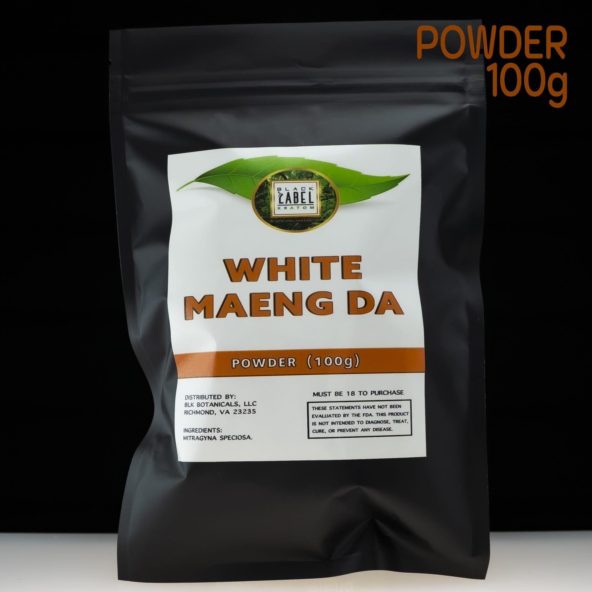 Black Label Kratom White Maeng Da powder 100g