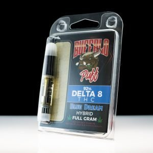 Buffalo Puff Delta 9 THC Blue Dream Hybrid Full Gram Cartridge