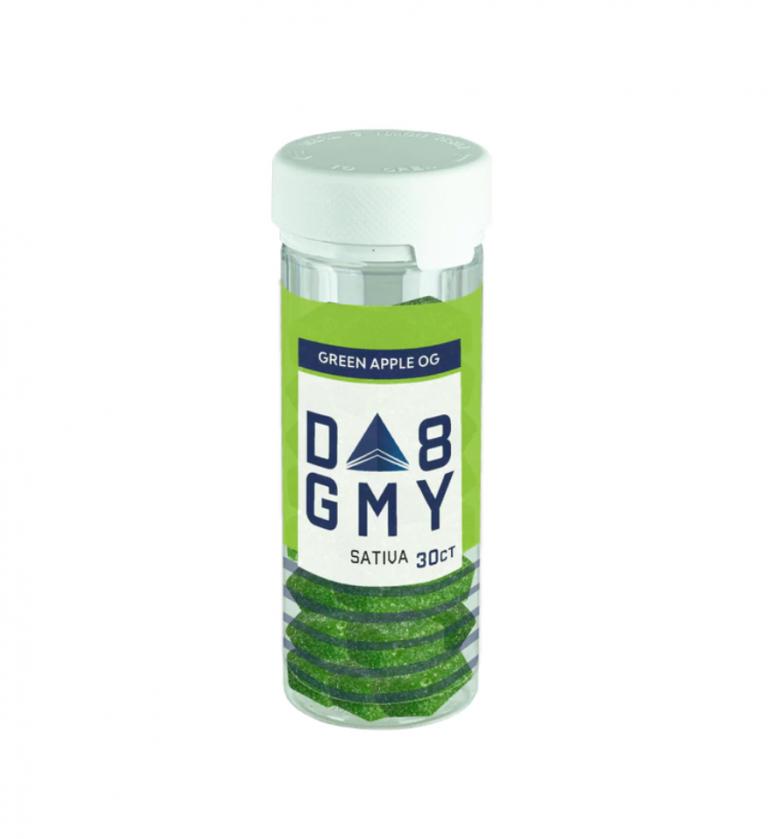 Delta-8 Green Apple Sativa Gummies (750mg)