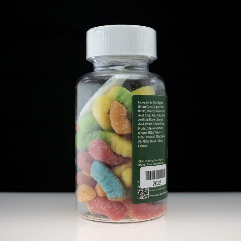 Delta 8 Hemp Gummies – Sour Worms 300mg