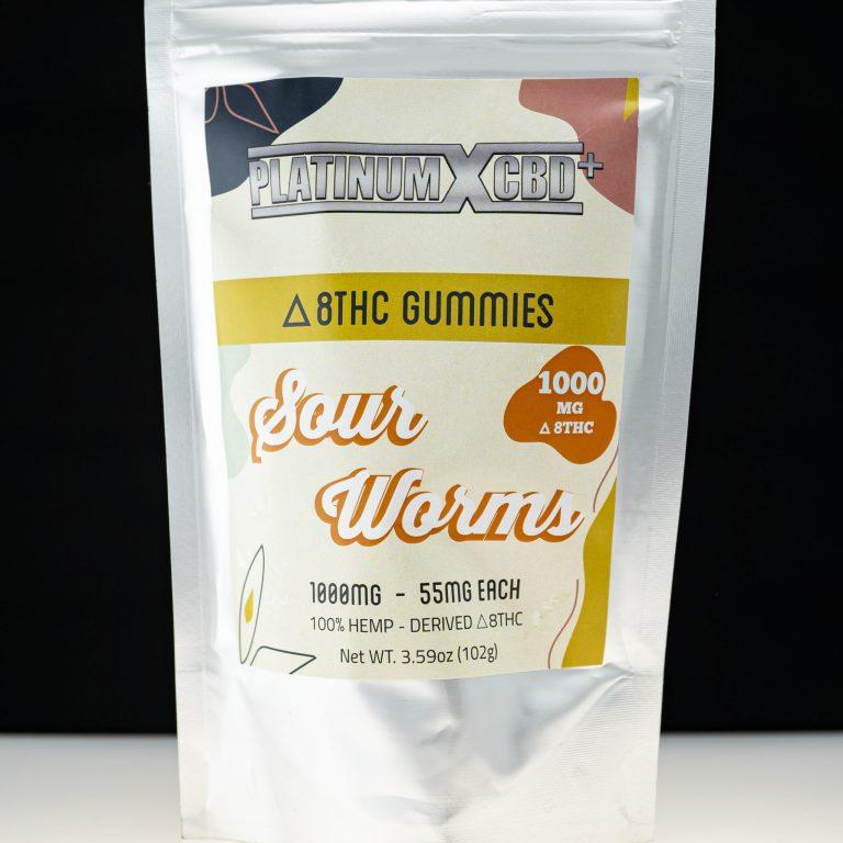 Platinum X CBD Delta 8 THC Gummies –Sweet Worms 1000mg