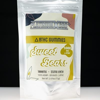 Platinum X CBD Delta 8 THC Gummies – Sweet Bears 1000mg